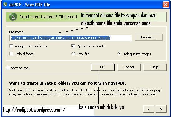 cara merubah word jadi pdf